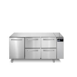 Tiefkühltisch 252 l GN 1/1 1 Tür 4 Schubladen für Zentralkühlung