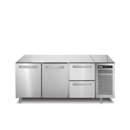 Tiefkühltisch 252 l GN 1/1 2 Türen 2 Schubladen