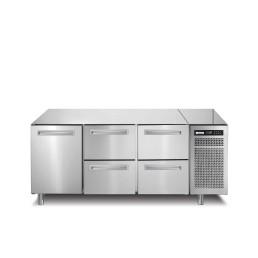 Tiefkühltisch 252 l GN 1/1 1 Tür 4 Schubladen