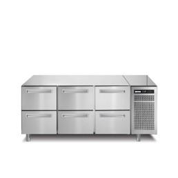 Tiefkühltisch 252 l GN 1/1 6 Schubladen