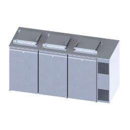 Konfiskatkühler für 3 x 120 oder 240 l Abfallbehälter mit Winterheizung