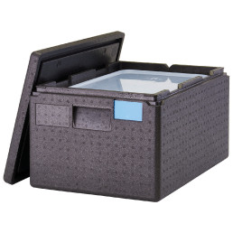 Wärmebox, Toplader für GN 1/1-200 mm, schwarz