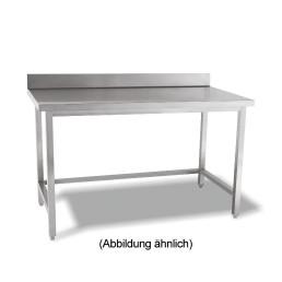 Arbeitstisch verschweißt o. Ablageboden mit 50 mm Aufkantung 1000 x 700 x 850 mm