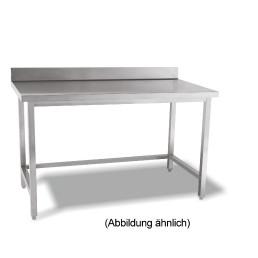 Arbeitstisch verschweißt o. Ablageboden mit 50 mm Aufkantung 800 x 600 x 850 mm