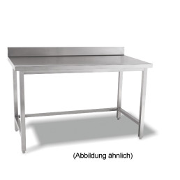 Arbeitstisch verschweißt o. Ablageboden mit 50 mm Aufkantung 1000 x 600 x 850 mm