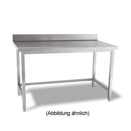 Arbeitstisch verschweißt o. Ablageboden mit 50 mm Aufkantung 1800 x 600 x 850 mm