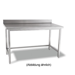 Arbeitstisch verschweißt o. Ablageboden mit 50 mm Aufkantung 2000 x 600 x 850 mm