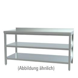 Arbeitstisch verschweißt mit 2 Böden mit 50 mm Aufkantung 1000 x 600 x 850 mm