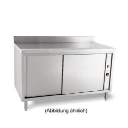 Wärmeschrank mit Schiebetüren mit 50 mm Aufkantung 1400 x 700 x 850 mm