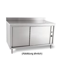 Wärmeschrank mit Schiebetüren mit 50 mm Aufkantung 1600 x 700 x 850 mm