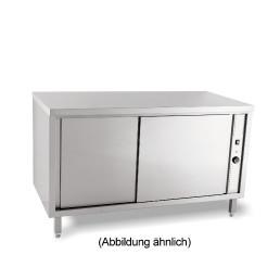 Wärmeschrank mit Schiebetüren ohne Aufkantung 1800 x 600 x 850 mm