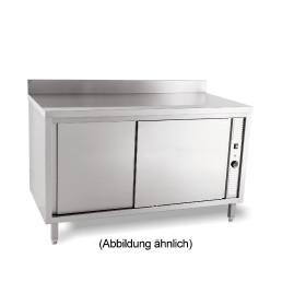 Wärmeschrank mit Schiebetüren mit 50 mm Aufkantung 1400 x 600 x 850 mm