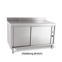 Wärmeschrank mit Schiebetüren mit 50 mm Aufkantung 2000 x 600 x 850 mm