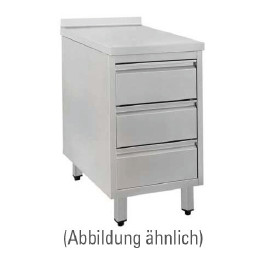Schubladenschrank mit 50 mm Aufkantung 480 x 700 x 850 mm