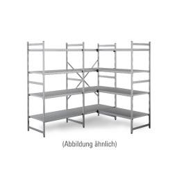 NORM 20 - Aluminium-Anbauregal 775 x 500 x 1800 mm