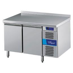 Umluft-Kühltisch 2 Türen / je 8 x GN 1/1 / mit Aufkantung hinten