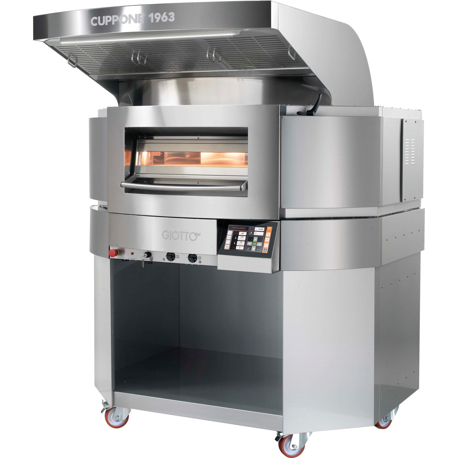 Elektro-Einkammer-Backofen mit drehbarer Backplatte für 10 x ø 350 mm Pizzen