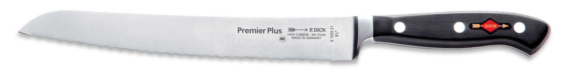 Premier Plus, Brotmesser Klingenlänge 210 mm Wellenschliff