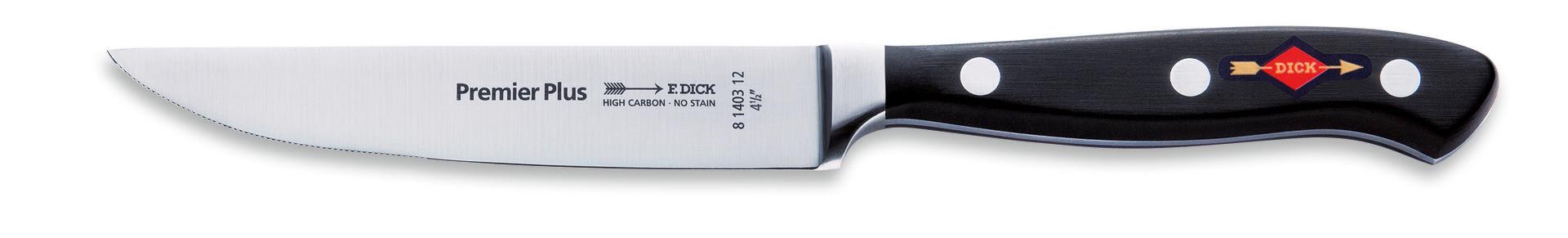 Premier Plus, Steakmesser Klingenlänge 120 mm Wellenschliff geschmiedet