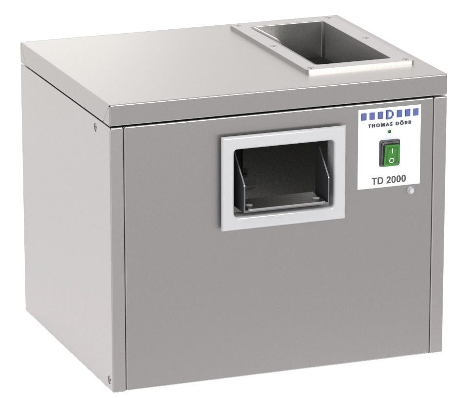 Besteckpoliermaschine 2000 Besteckteile/h / 500 x 425 x 440 mm