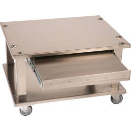 Fahrbares Untergestell mit ausziehbarer Schublade 670 x 520 x 365 mm