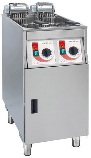 Elektro-Fritteuse 2 x 9,00 l / Füllmenge Korb 1,25 kg