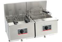 Elektro-Fritteuse 2 x 9,50 l / Füllmenge Korb 1,20 kg