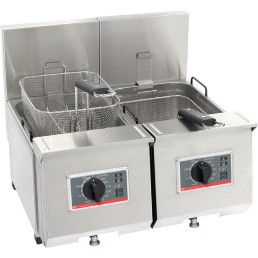 Elektro-Fritteuse 2 x 7,00 l / Füllmenge Korb 0,80 kg