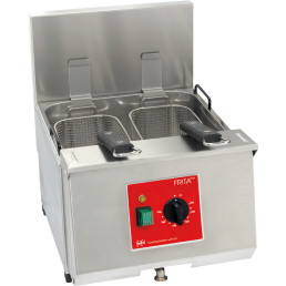 Elektro-Fritteuse 1 x 9,50 l / Füllmenge Korb 1,00 kg