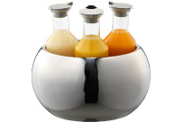 Getränke-Set Triplet poliert ø 320 mm inkl. 3 Kunststoffkaraffen 1,20 l