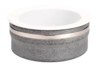 Frischeplatte Speckstein ø 310 mm mit Porzellanplatte inkl. Kühlkissen