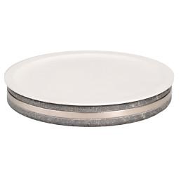 Frischeplatte Speckstein ø 410 mm mit Porzellanplatte inkl. Kühlkissen