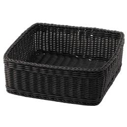 Kunststoffkorb 305 x 305 x 120 mm grau für Obst- und Brotstation