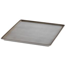 Porzellanplatte 330 x 330 x 19 mm grau