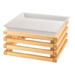 Porzellanschale 3,50 l 353 x 353 mm weiß / mit L-Standfuß Oak