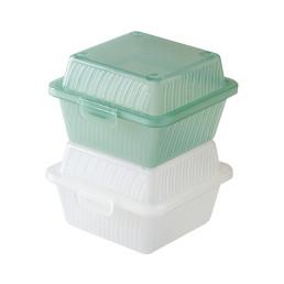 Hamburger-Box 121 x 121 x 83 mm jadegrün