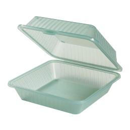 Speisenbehälter mit einem Fach (groß) 229 x 229 x 89 mm jadegrün