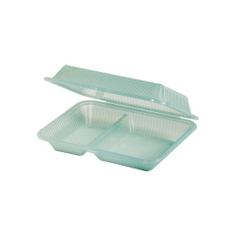 Speisenbehälter mit 2 Fächern 230 x 254 x 76 mm jadegrün
