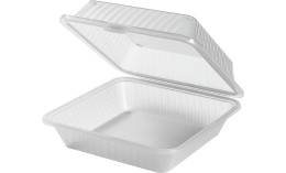 Speisenbehälter mit einem Fach (groß) 229 x 229 x 89 mm weiß