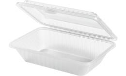 Speisenbehälter mit einem Fach (klein) 230 x 165 x 64 mm weiß