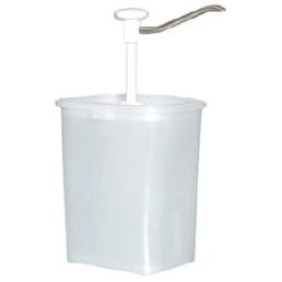 Dosierspender viereckig 5,00 l / 140 x 175 x 470 mm rostfreier Auslauf