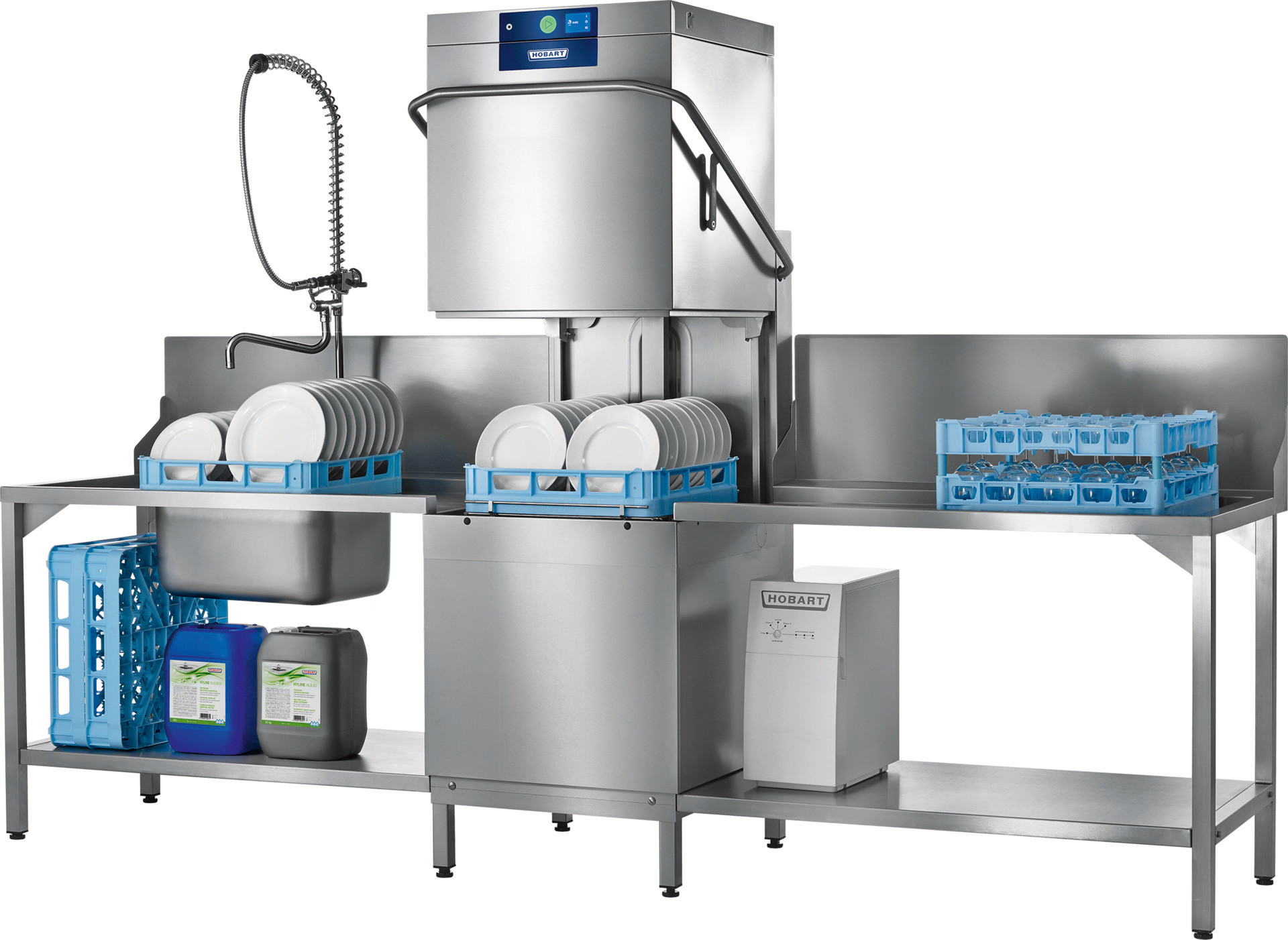 Durchschubspülmaschine AMXR-10B mit Abwasser-Wärmerückgewinnung / 500 x 500 mm