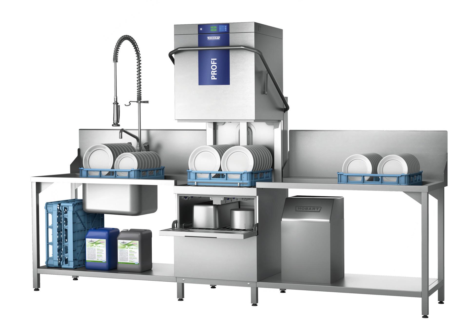 Durchschubspülmaschine PROFI Two-Level-Washer-10A / 500 x 500 mm