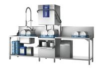 Durchschubspülmaschine PROFI TLWS-10A / mit integrierter Wasserenthärtung