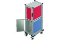 Speisentransportbox 2 Fächer je 30 x GN 1/1 Flex Höhenraster 37,5 mm
