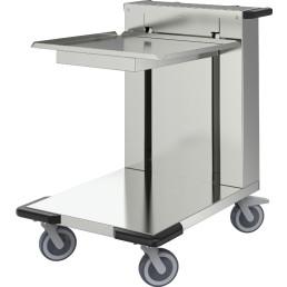 Korbstapler unbeheizt / offen für Körbe 500 x 500 mm Edelstahl