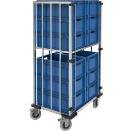 Kommissionierwagen für 12 x Eurobehälter / Tragkraft 350,00 kg