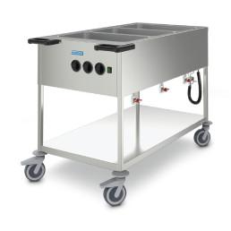Speisenausgabewagen Folienheizung 3 Becken für GN 1/1-200 Edelstahl