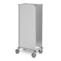 Tablett-Abräumwagen 1-tlg. 9 x GN 1/1 Höhenraster 150 mm Aluminium