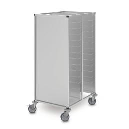 Tablett-Abräumwagen 2-tlg. 18 x GN 1/1 Höhenraster 150 mm Aluminium